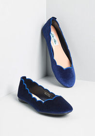 Try Your Luxe Velvet Flat Navy
