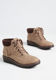 Blowfish All Yours Lace-Up Bootie Taupe