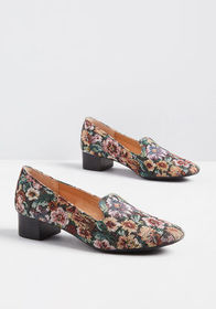 One Sweet Step Floral Heeled Loafer in Multicolor