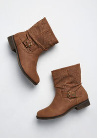 Moto Maven Slouchy Ankle Boot Tan