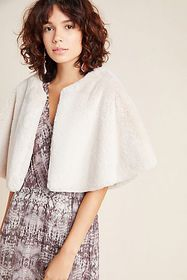 Anthropologie Gatsby Faux Fur Capelet