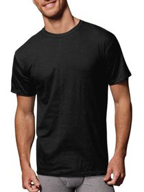 Men's ComfortSoft Tagless Black and Grey Crew T-Sh