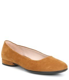 ECCO Anine Leather Ballerina Slip Ons