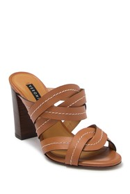 VERONICA BEARD Macey Vachetta Stitch Block Heel Sa