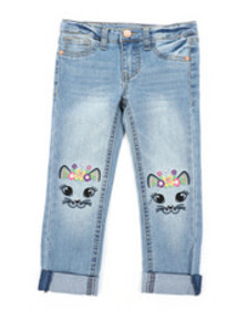 Lee cat face skinny jeans (4-6x)