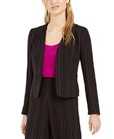 Striped Open-Front Jacket, Created For Macy's