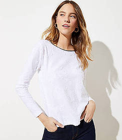 Clip Dot Bow Back Top