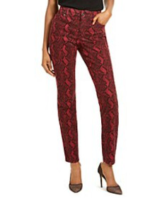 INC INCEssential Snake-Print Skinny Jeans, Created