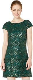 Vince Camuto Sequin Cap Sleeve Shift