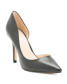 NINE WEST Pointy Toe Snake D'orsay Pumps