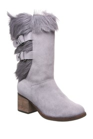 BEARPAW Madeline Genuine Goat Fur & Suede Tall Boo