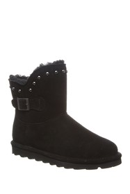 BEARPAW Minnie Suede Stud Trim Ankle Boot