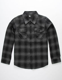 RSQ Alta Flannel Charcoal Boys Shirt_