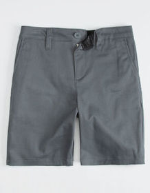 BLUE CROWN Charcoal Boys Chino Shorts_