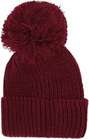 Steve Madden Ribbed Cuff Hat with Pom