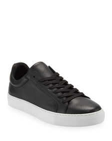 Supply Lab Damian Perforated Leather Skate Sneaker