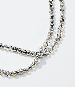 Metallic Pearlized Extra Long Necklace