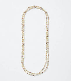 Pearlized Extra Long Necklace