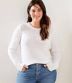 LOFT Plus Pearlized Sweater