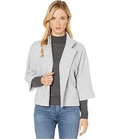 Jones New York 3\u002F4 Sleeve Boiled Wool Cape