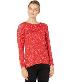 Jones New York Pleat Back Top with Scrunch Sleeves