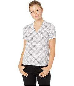 Jones New York Short Sleeve V-Neck Top