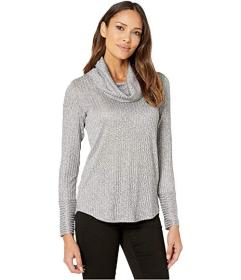 Jones New York Cowl Neck Long Sleeve Top
