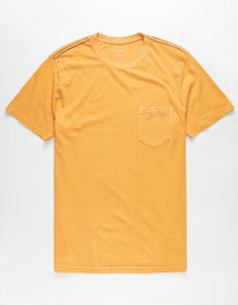 RVCA PTC 2 Pigment Gold Mens Pocket Tee_
