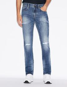 Armani FIVE-POCKET SLIM-FIT DENIM JEANS