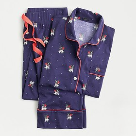 J. Crew Dreamy long-sleeve cotton pajama set in ho