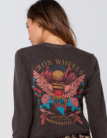 FULL TILT Iron Wheels Womens Crop Tee_