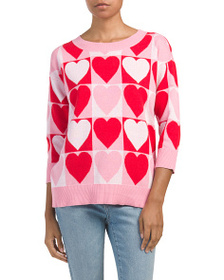 CABLE & GAUGE Heart Pullover Sweater