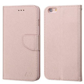 MYBAT For Apple iPhone 6/6s Rose Gold Leather Fabr