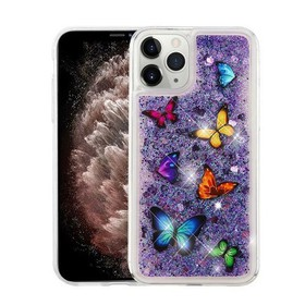 For Apple iPhone 11 Pro Max Purple Butterfly Danci