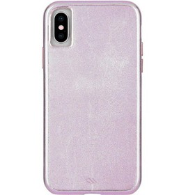 Case-Mate iPhone Xs / X Barely There Leather Metal