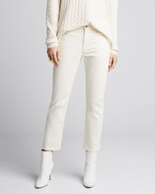 FRAME Le High Straight Ankle Jeans
