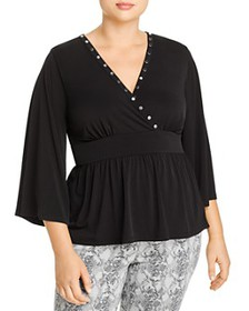 MICHAEL Michael Kors Plus - Stud-Trim Top