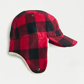 J. Crew Sherpa-lined cap with earflaps