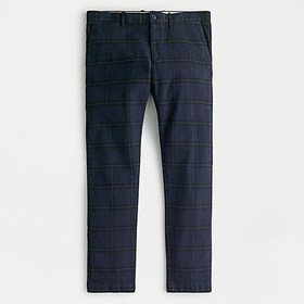 J. Crew 484 Slim-fit pant in plaid stretch brushed