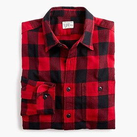 J. Crew Midweight flannel shirt in buffalo check