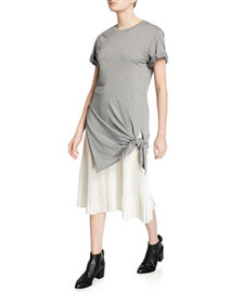 3.1 Phillip Lim Side-Tie Crewneck Tee Dress with P