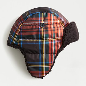 J. Crew Kids' sherpa-lined puffy trapper hat