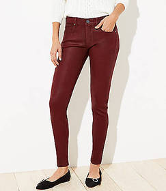 Coated Slim Pocket Skinny Jeans