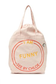 See By Chloe I Am Funny Canvas Tote