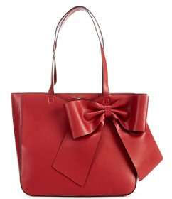 KARL LAGERFELD PARIS Fara Bow Faux-Leather Tote Ba