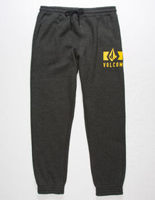 VOLCOM Booker Heather Black Mens Sweatpants_
