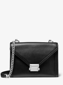 [object Object] Whitney Large Leather Convertible