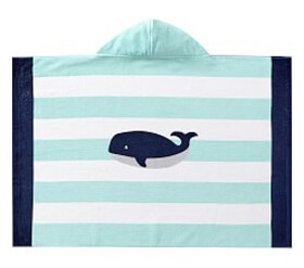 Pottery Barn Whale Stripe Baby Beach Wrap