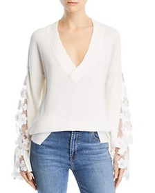 FRENCH CONNECTION - Caballo Floral-Lace Sleeve Swe