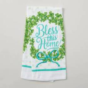 Bless This Home with Glitter Kitchen Towel